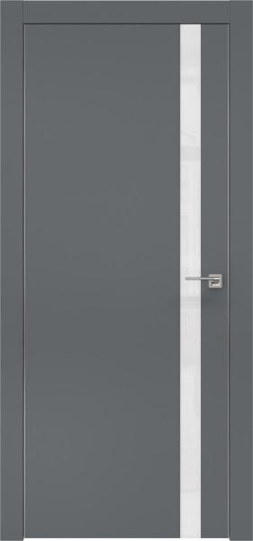 Межкомнатная дверь ZM007 (экошпон «графит» / лакобель белый)