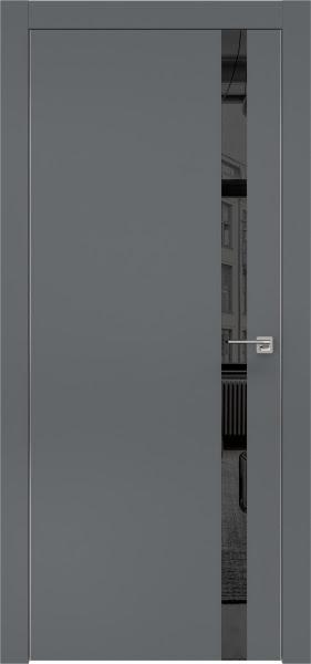 Межкомнатная дверь ZM007 (экошпон «графит» / зеркало тонированное)