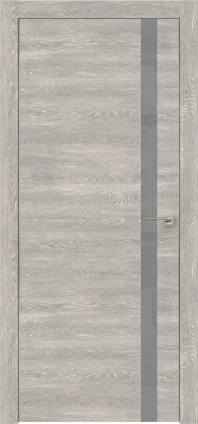 Межкомнатная дверь ZM007 (экошпон «серый дуб патина» / лакобель серый)