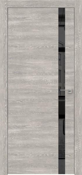 Межкомнатная дверь ZM007 (экошпон «серый дуб патина» / зеркало тонированное)