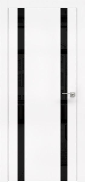 Межкомнатная дверь ZM008 (экошпон белый / лакобель черный)