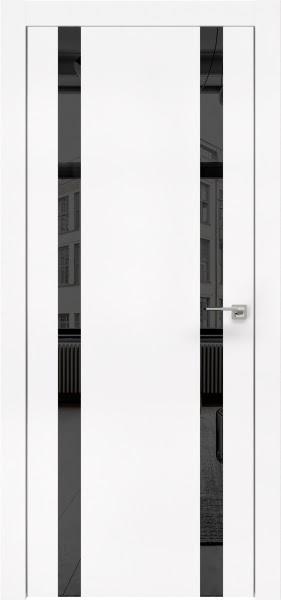 Межкомнатная дверь ZM008 (экошпон белый / зеркало тонированное)