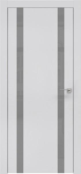 Межкомнатная дверь ZM008 (экошпон светло-серый / лакобель серый)