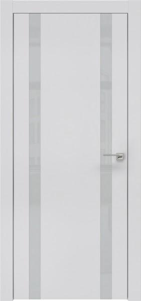 Межкомнатная дверь ZM008 (экошпон светло-серый / лакобель светло-серый)