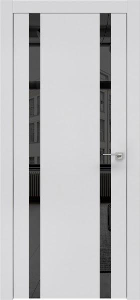 Межкомнатная дверь ZM008 (экошпон светло-серый / зеркало тонированное)