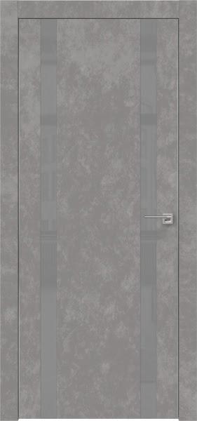 Межкомнатная дверь ZM008 (экошпон «бетон» / лакобель серый)