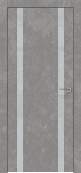 Межкомнатная дверь ZM008 (экошпон «бетон» / лакобель светло-серый)