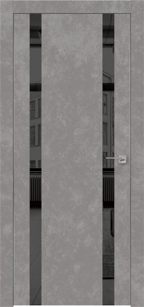 Межкомнатная дверь ZM008 (экошпон «бетон» / зеркало тонированное)
