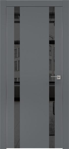 Межкомнатная дверь ZM008 (экошпон «графит» / зеркало тонированное)