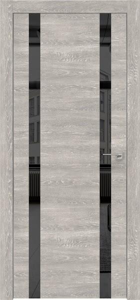 Межкомнатная дверь ZM008 (экошпон «серый дуб патина» / зеркало тонированное)