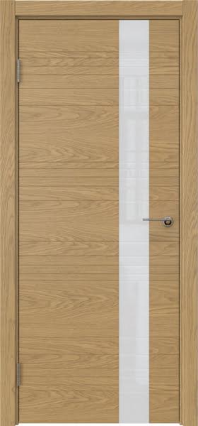 Межкомнатная дверь ZM009 (шпон дуб американский / лакобель белый)