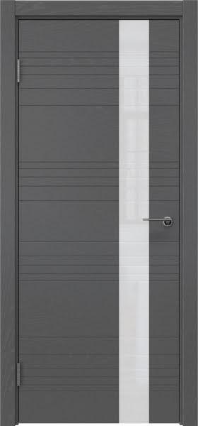 Межкомнатная дверь ZM009 (шпон ясень серый / лакобель белый)