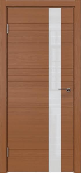 Межкомнатная дверь ZM009 (шпон анегри / лакобель белый)