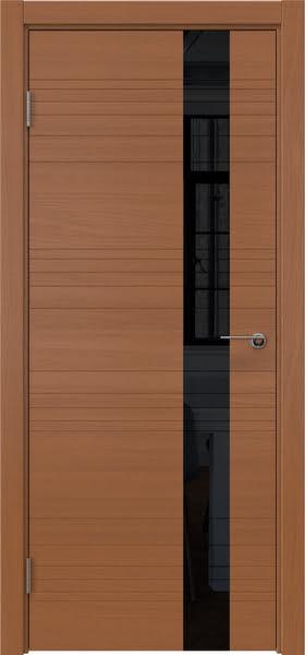 Межкомнатная дверь ZM009 (шпон анегри / лакобель черный)