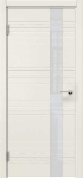 Межкомнатная дверь ZM009 (эмаль слоновая кость / лакобель белый)