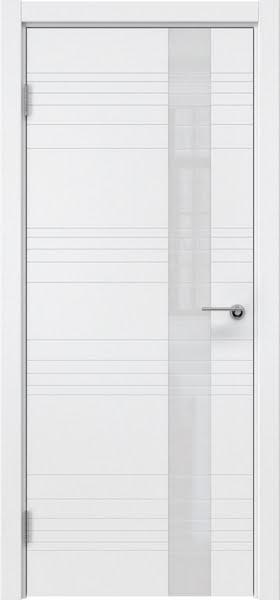 Межкомнатная дверь ZM009 (эмаль белая / лакобель белый)