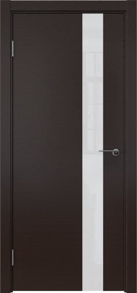 Межкомнатная дверь ZM012 (шпон венге / лакобель белый)