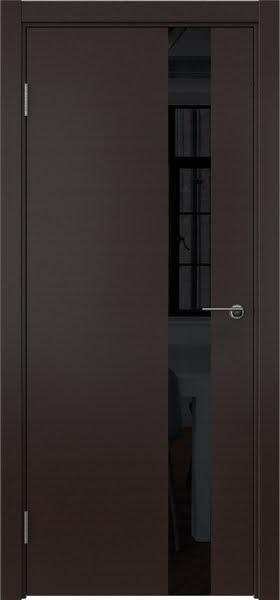 Межкомнатная дверь ZM012 (шпон венге / лакобель черный)