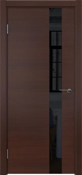 Межкомнатная дверь ZM012 (шпон итальянский орех / лакобель черный)