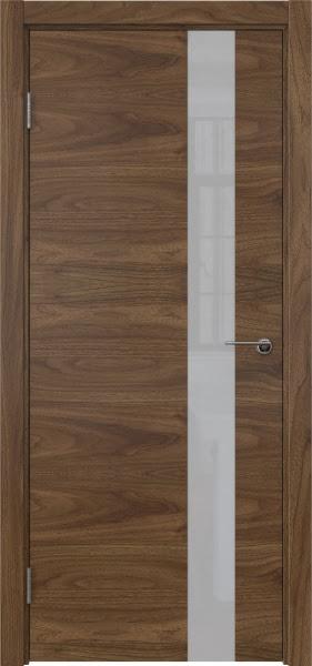 Межкомнатная дверь ZM012 (шпон американский орех / лакобель белый)