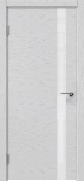Межкомнатная дверь ZM012 (шпон ясень светло-серый / лакобель белый)