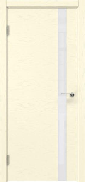 Межкомнатная дверь ZM012 (шпон ясень ваниль / лакобель белый)
