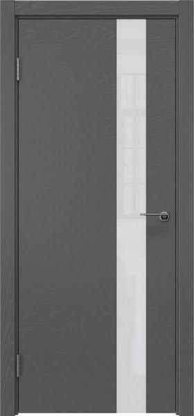 Межкомнатная дверь ZM012 (шпон ясень серый / лакобель белый)