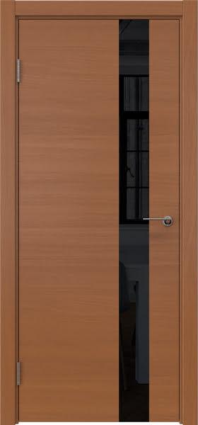 Межкомнатная дверь ZM012 (шпон анегри / лакобель черный)