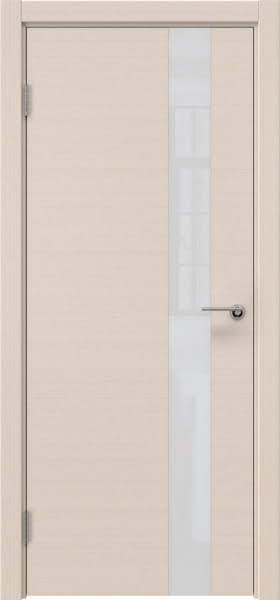 Межкомнатная дверь ZM012 (шпон беленый дуб / лакобель белый)