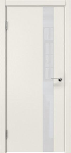 Межкомнатная дверь ZM012 (эмаль слоновая кость / лакобель белый)
