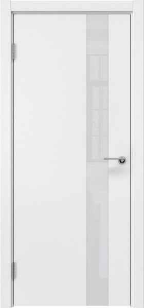 Межкомнатная дверь ZM012 (эмаль белая / лакобель белый)