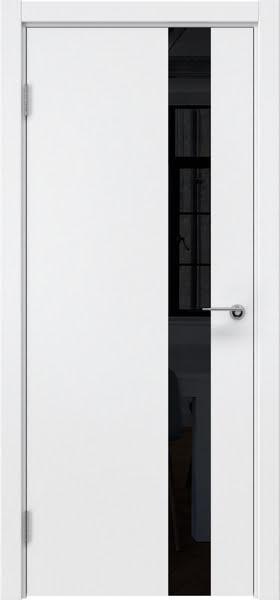 Межкомнатная дверь ZM012 (эмаль белая / лакобель черный)