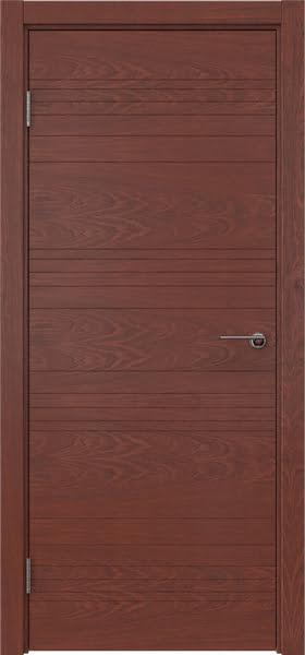 Межкомнатная дверь ZM013 (шпон красное дерево, глухая)