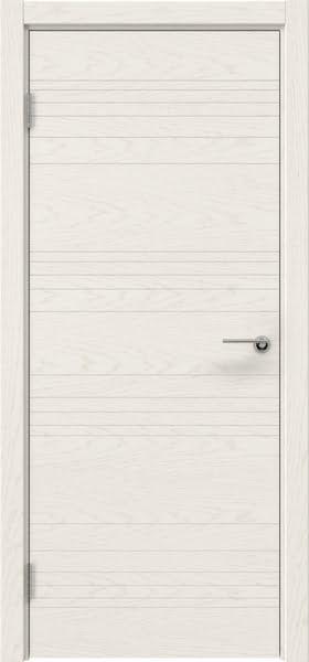 Межкомнатная дверь ZM013 (шпон ясень слоновая кость, глухая)