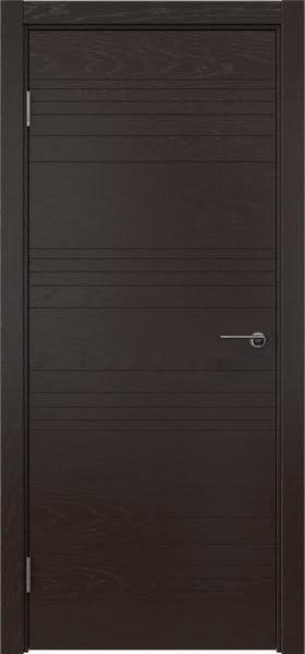 Межкомнатная дверь ZM013 (шпон ясень темный, глухая)