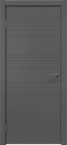 Межкомнатная дверь ZM013 (шпон ясень серый, глухая)
