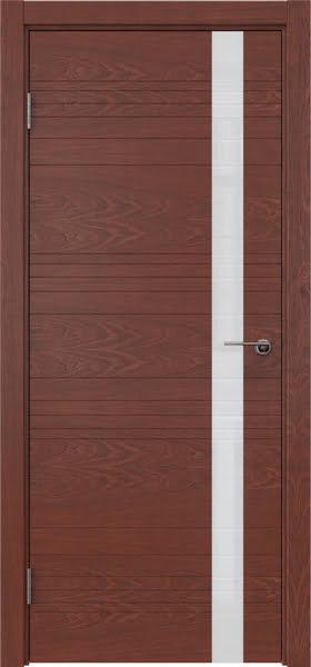 Межкомнатная дверь ZM014 (шпон красное дерево / лакобель белый)