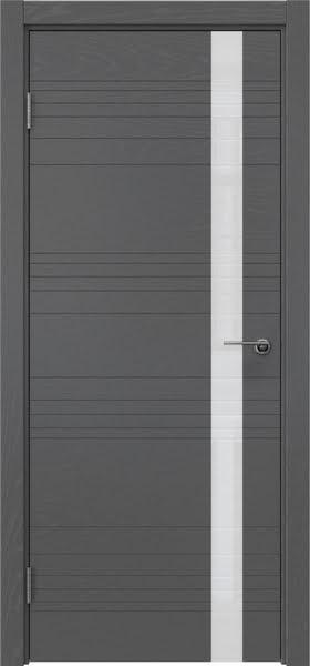 Межкомнатная дверь ZM014 (шпон ясень серый / лакобель белый)