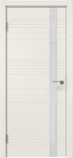 Межкомнатная дверь ZM014 (эмаль слоновая кость / лакобель белый)