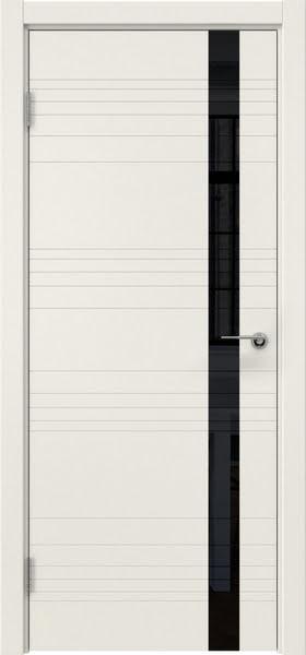 Межкомнатная дверь ZM014 (эмаль слоновая кость / лакобель черный)