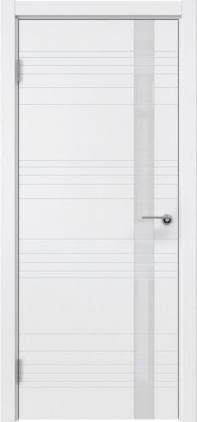 Межкомнатная дверь ZM014 (эмаль белая / лакобель белый)