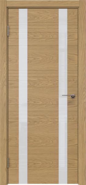 Межкомнатная дверь ZM015 (шпон дуб американский / лакобель белый)