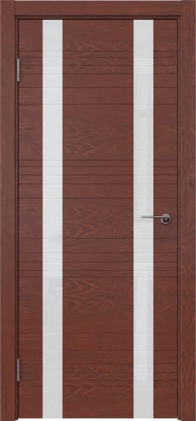 Межкомнатная дверь ZM015 (шпон красное дерево / лакобель белый)