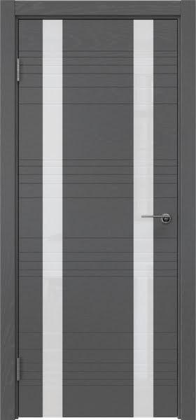 Межкомнатная дверь ZM015 (шпон ясень серый / лакобель белый)
