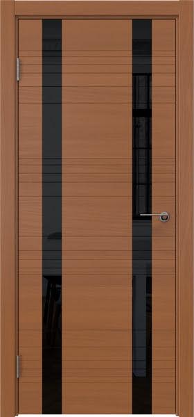 Межкомнатная дверь ZM015 (шпон анерги / лакобель черный)