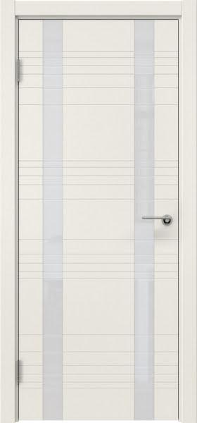 Межкомнатная дверь ZM015 (эмаль слоновая кость / лакобель белый)