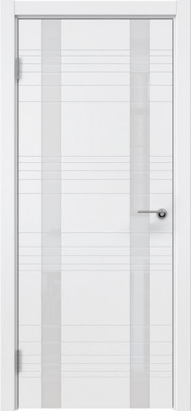 Межкомнатная дверь ZM015 (эмаль белая / лакобель белый)