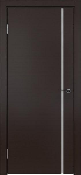 Межкомнатная дверь ZM016 (шпон венге / триплекс белый)