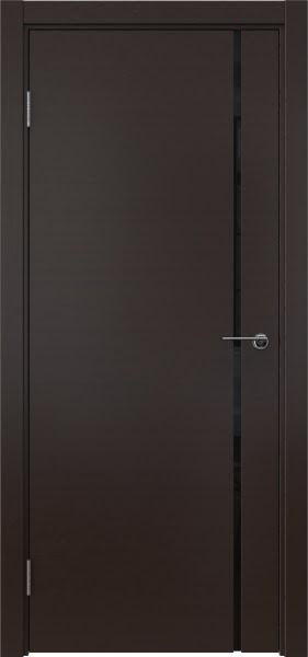 Межкомнатная дверь ZM016 (шпон венге / триплекс черный)