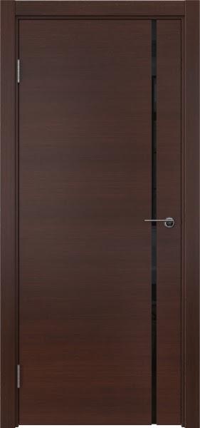 Межкомнатная дверь ZM016 (шпон итальянский орех / триплекс черный)